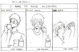 APH drinking alchohol by Lime-Inoue