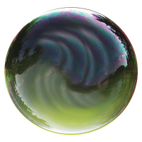 Stock Realistc Bubble PNG by E-DinaPhotoArt