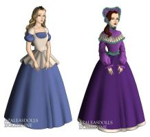 Alice And Her Sister (Alice in Wonderland) outfits by sarasarit