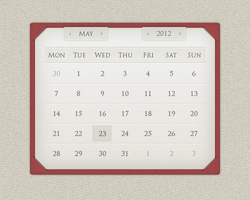 Calendar widget design by scareddragon-pl