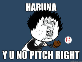 HARUNA Y U NO PITCH RIGHT by MadaraMinamiYasashii