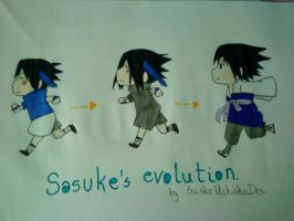 Sasuke's evolution. by SaskeUchichaDes