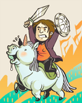atop her mighty steed by snoozlebee