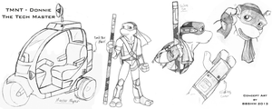 TMNT - Concept Art - Don T.M. by DuelistoftheRose