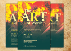 Art of Worship Church Flyer Template by loswl