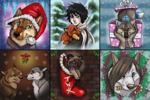 CLOSED Winter pups1 by NatsumeWolf