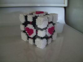 Commission: Portal Companion cube by taytaym2