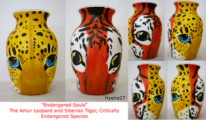 Endangered Souls Vase For Sale by Hyena27