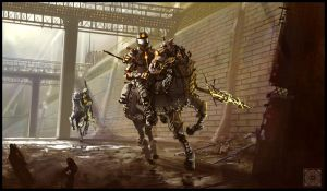 Underground Mounted Police by Clauthor
