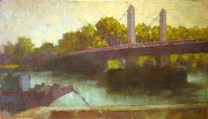 The Albert Bridge,London..oil on linen by xxaihxx