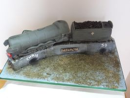 60103 Flying Scotsman cake by FifiCake
