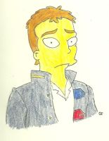 Simpsonized Chris Martin by TheSimpsonsFanGirl