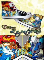 Pokemon custom shoes by Raw-J