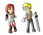 Sazuki and Axel chibis. by pelle131313