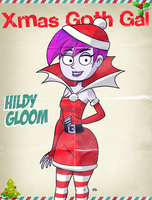 #XmasGothGal - Hildy Gloom  by theEyZmaster