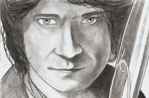 Bilbo Baggins The Hobbit (charcoal) by Tattootony28