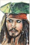 sketch card Jack Sparrow by antonvandort