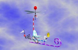 Candy Copter Rendering by deathaura40s