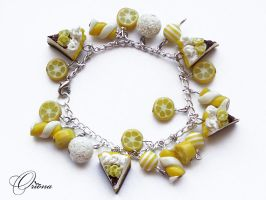 Bracelet 'Lemon pie' by OrionaJewelry