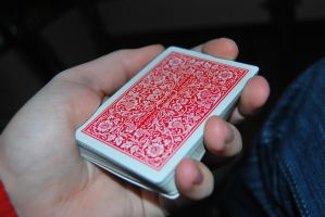 Streamline Red - Playing Cards by cal3star
