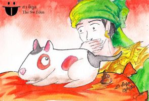 Bayinnaung and Bull Terrier by sw-eden