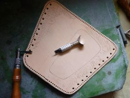 Leather Cheek-Pad - WIP01 by Bear-Crafter