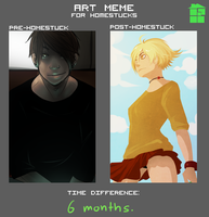 Art Meme for Homestucks by L0UDST
