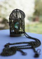 Cage pendant by Pinkabsinthe