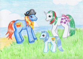 Ponies by the sea by NormaLeeInsane