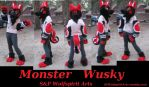 Monster Wusky Partial Commission by ShadowAndFrost