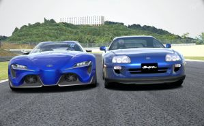 FT1 Concept vs Supra2 by NightmareRacer85