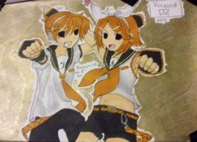 Vocaloid Rin and Len Kagamine by Jasmine-Likes-Food