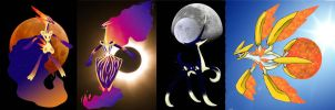 Lunar and Solar Eclipse, Moon and Sun by Shiningfant