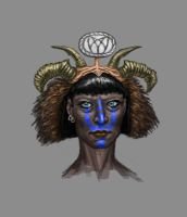 Woman with Headdress from The Cats of Ulthar by MarkWFoster