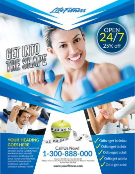 Fitness Flyer by inddesigner