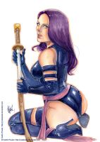 PSYLOCKE watercolor by J-Estacado