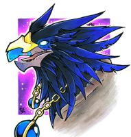 Anzu the Raven Lord by Merinid-DE