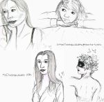 Everyday Sketchbook - Lovely DA Ladies by noisybubbles