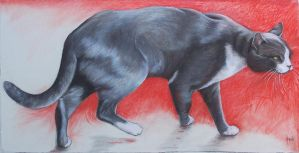 The Stalker - Pastel by AstridBruning