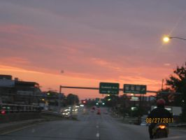 sunset in greensboro nc by BabyImMeee