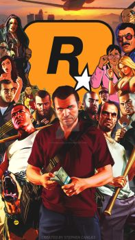Grand Theft Auto - iPhone 5 Wallpaper #1 by StephenCanlas