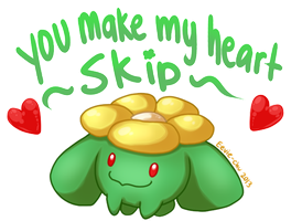 Skiploom Skip Valentine by Eevie-chu
