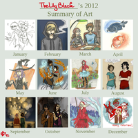 2012 Summary of art by LilyScribbles