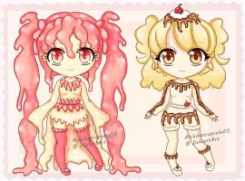 Dessert Adoptable set -CLOSED!- by MichibanCupcakes