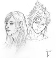 Cloud and Tifa by AndreaTM