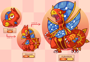 Fakemon: Solar Lizards by The-Knick