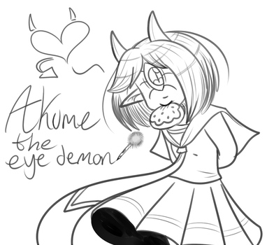 Akume the eye demon sketch doodle by ReneesInnerIrken