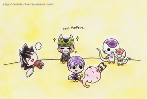 DBZ - Chibis part 2 by Bubble-Chubi