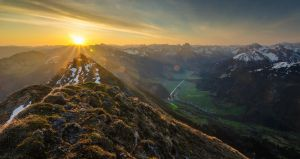 Mt Kanisfluh sunrise by acoresjo88