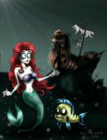 Little Mermaid (Burton style) by TigerPaw90